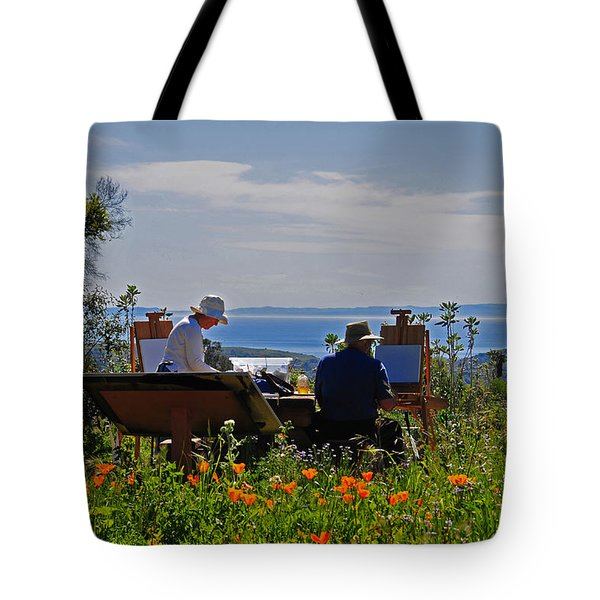 Artists At Work Tote Bag by Lynn Bauer
