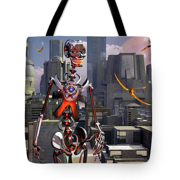 Artists Concept Of A City Of The Future Tote Bag by Mark Stevenson