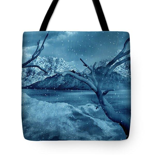 Artists Concept Of A Dangerous Snow Tote Bag by Mark Stevenson