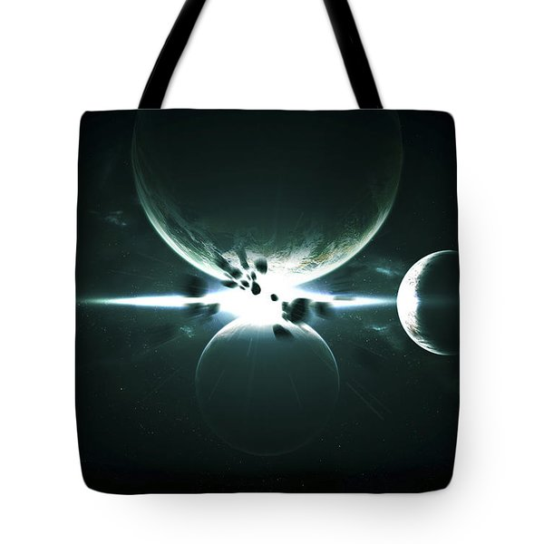 Artists Concept Of A Planet And Its 3 Tote Bag by Kevin Lafin