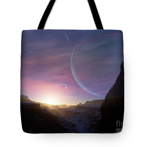 Artists Concept Of A Scene Tote Bag by Brian Christensen
