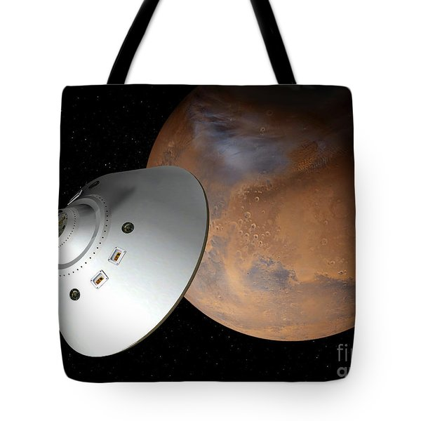 Artists Concept Of An Aeroshell-encased Tote Bag by Stocktrek Images