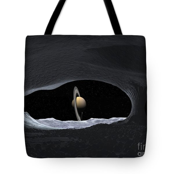 Artists Concept Of How Saturn Tote Bag by Walter Myers