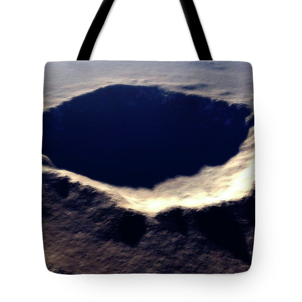 Artists Concept Of Meteor Crater Tote Bag by Rhys Taylor