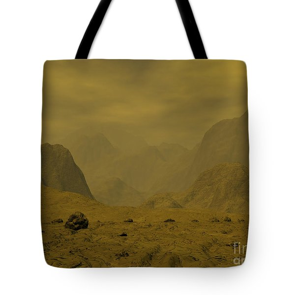 Artists Concept Of The Surface Of Venus Tote Bag by Walter Myers