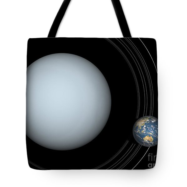 Artists Concept Of Uranus And Earth Tote Bag by Walter Myers