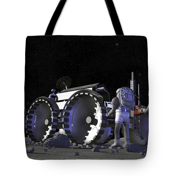 Artists Rendering Of Future Space Tote Bag by Stocktrek Images