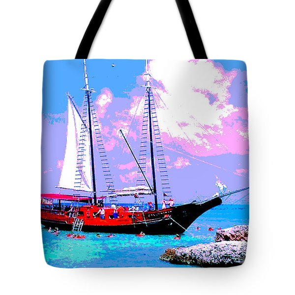 Aruba Adventure Tote Bag by Jerome Stumphauzer