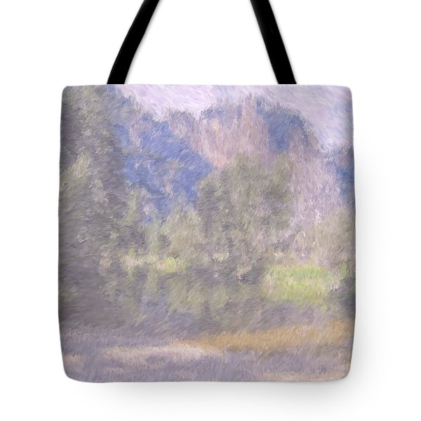 As If Monet Painted Yosemite Tote Bag by Heidi Smith