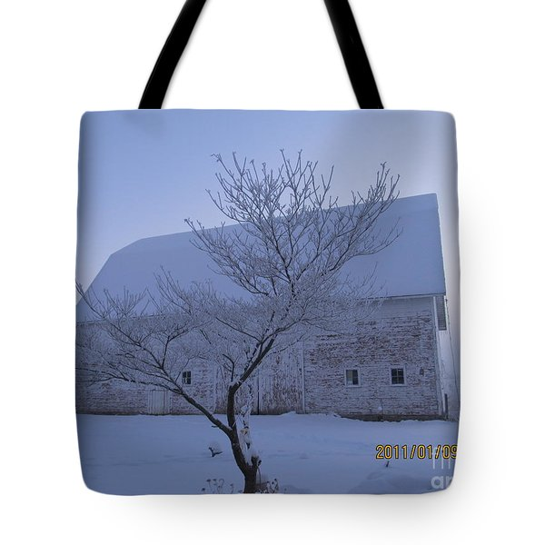 Tote Bag featuring the photograph As White As Snow by Tina M Wenger