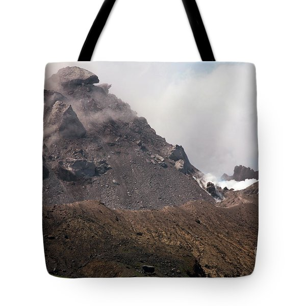 Ash And Gas Rising From Lava Dome Tote Bag by Richard Roscoe