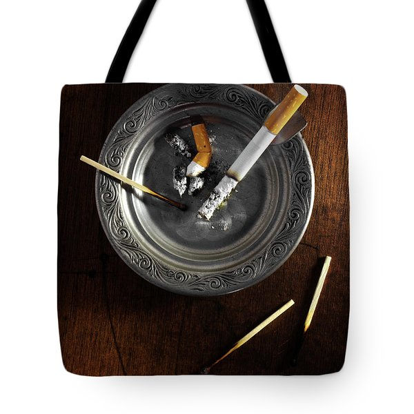 Ashtray Tote Bag by Carlos Caetano