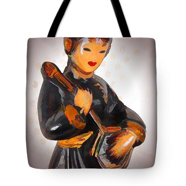 Asian Beauty Minstrel Tote Bag by Kathy Clark
