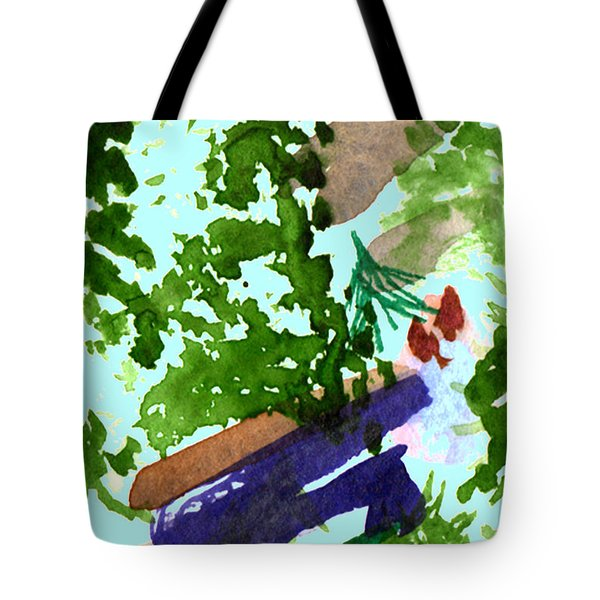 Tote Bag featuring the painting Asian Garden  by Paula Ayers