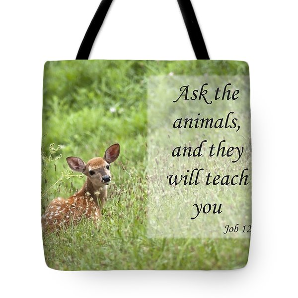 Ask The Animals Tote Bag by Jeannette Hunt