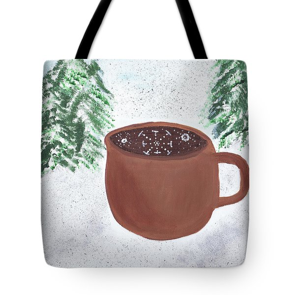 Tote Bag featuring the painting Aspen Cup by Beth  Cornell