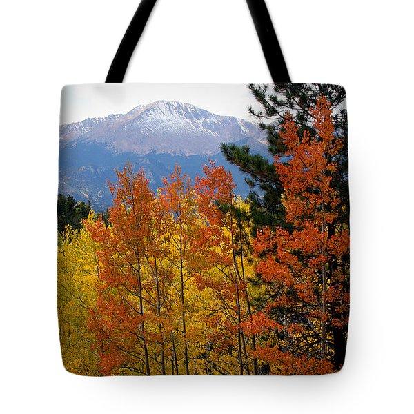 Aspen Grove And Pikes Peak Tote Bag by Kimberlee Fiedler