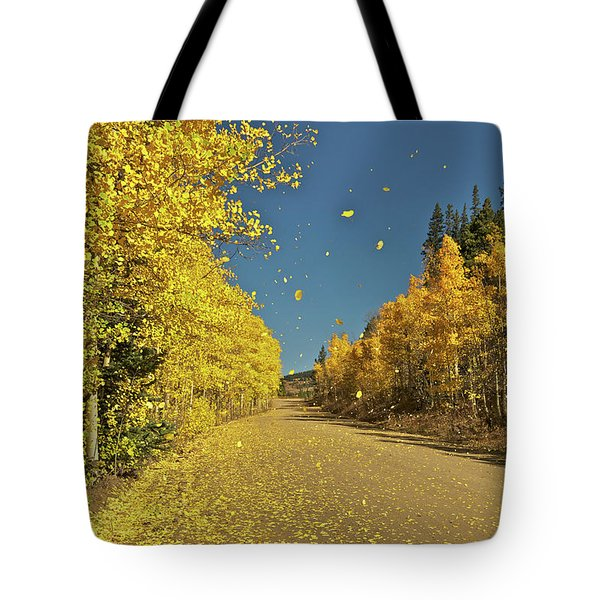 Aspen In The Wind Tote Bag by Stephen  Johnson