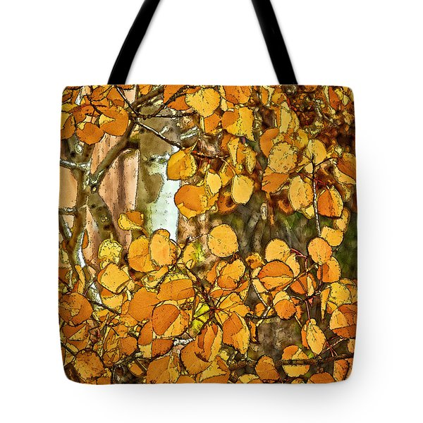 Aspens Gold Tote Bag