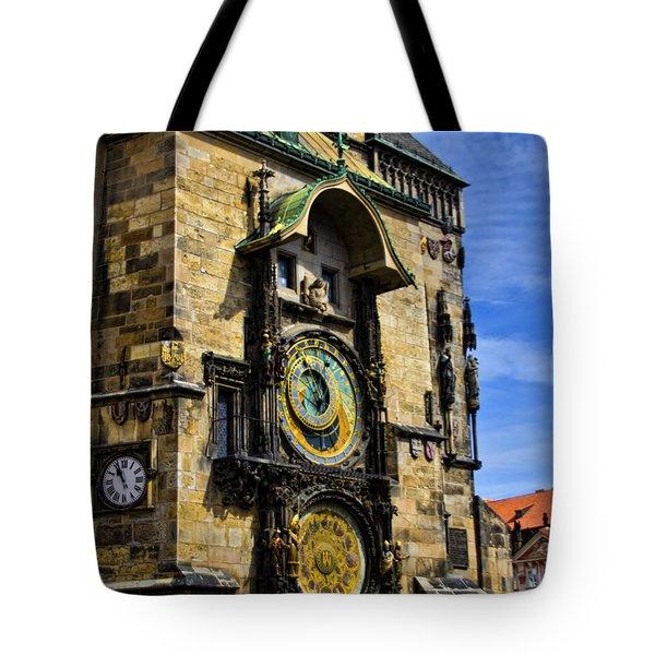 Astonomical Clock    Prague Old Town Tote Bag by Jon Berghoff