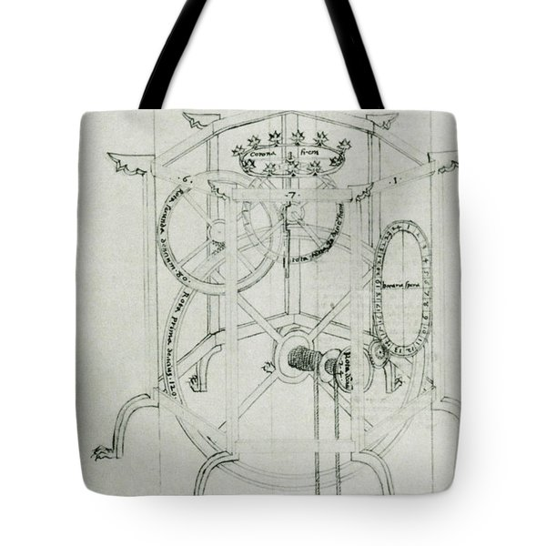 Astrarium Sketch By Giovanni De Dondi Tote Bag by Science Source