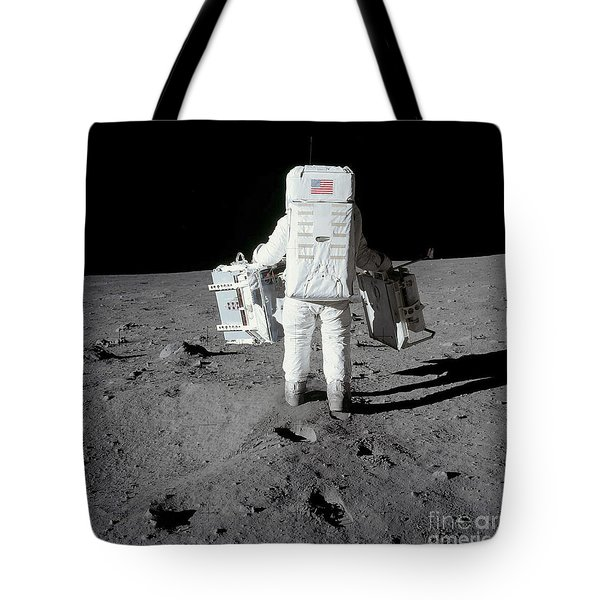 Astronaut Carrying Equipment Tote Bag by Stocktrek Images