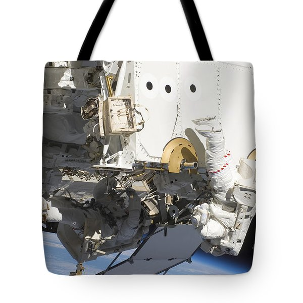 Astronauts Participate Tote Bag by Stocktrek Images