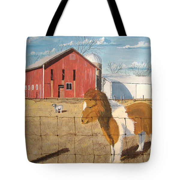 Tote Bag featuring the painting At Home by Norm Starks