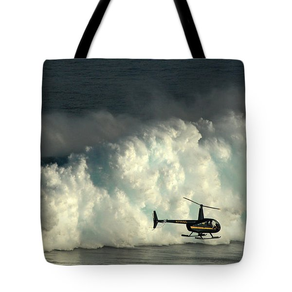 At Peahi Tote Bag