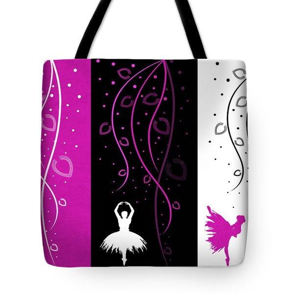 At The Ballet Triptych 2 Tote Bag by Angelina Vick