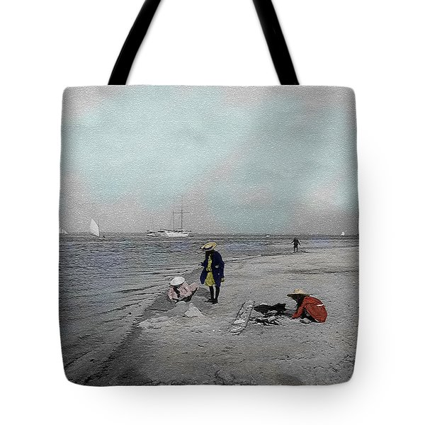 At The Beach Tote Bag by Andrew Fare