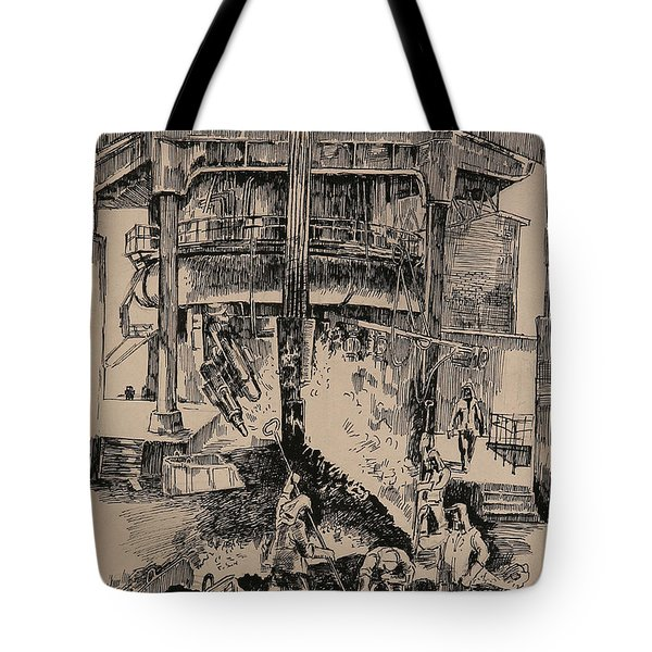 At The Blast Furnace Tote Bag