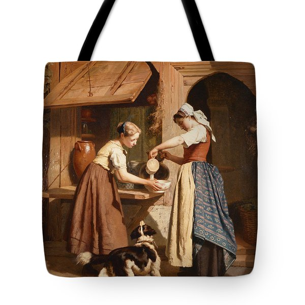 At The Dairy Tote Bag by Theodore Gerard