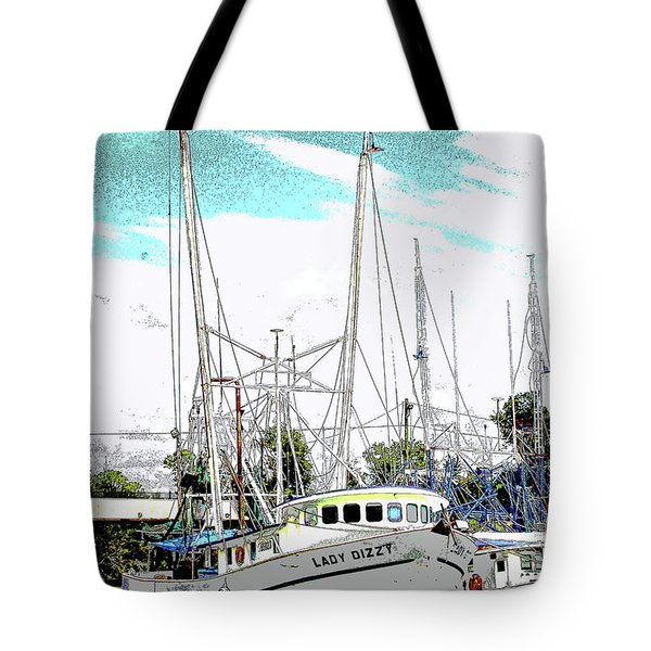 At The Dock Tote Bag by Barry Jones