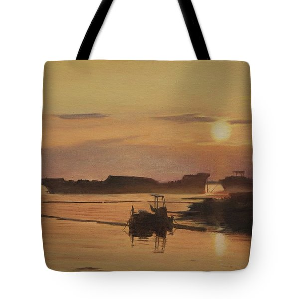 Tote Bag featuring the painting At The End Of It's Day by Tammy Taylor