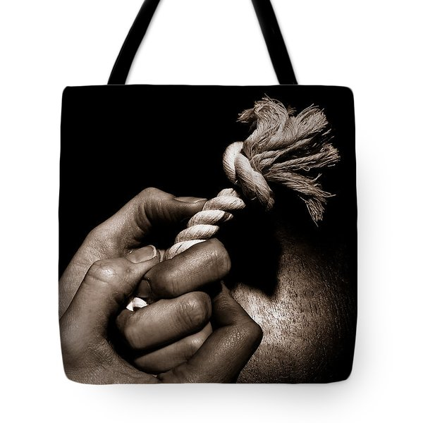 At The End Of My Rope Tote Bag
