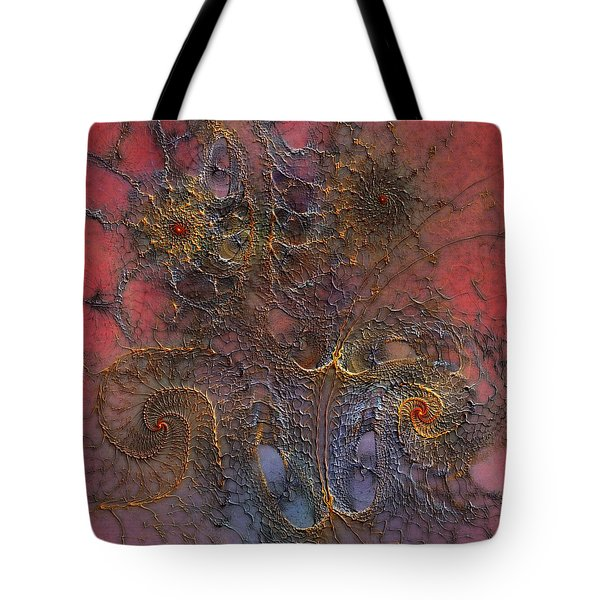 Tote Bag featuring the digital art At The Moment by Casey Kotas