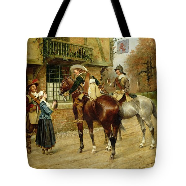 At The Red Inn Tote Bag by George Derville Rowlandson