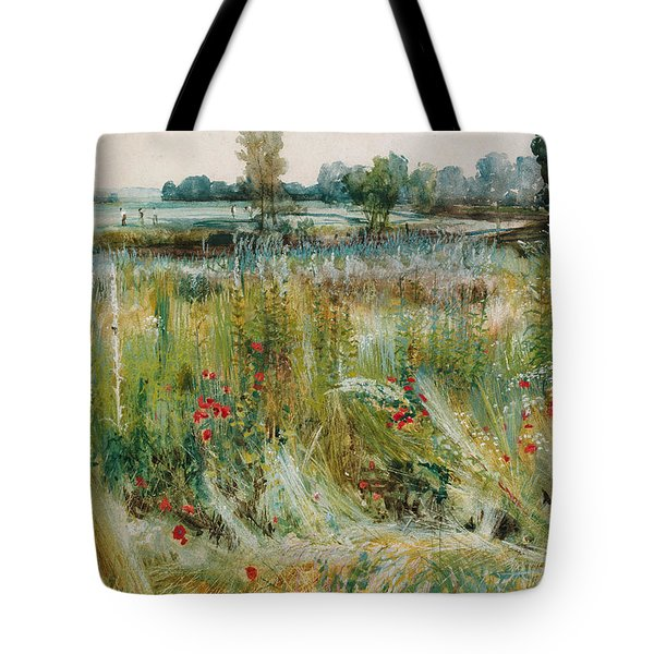 At The Water's Edge Tote Bag by John William Buxton Knight