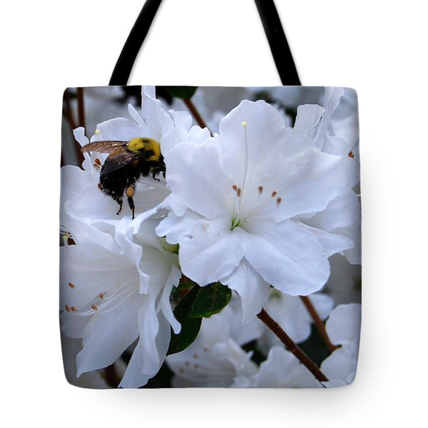 At Work In The Garden Tote Bag