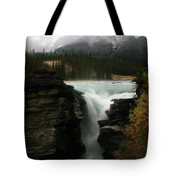 Athabasca Falls Jasper National Park Tote Bag