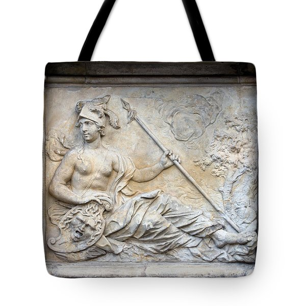 Athena Relief In Gdansk Tote Bag