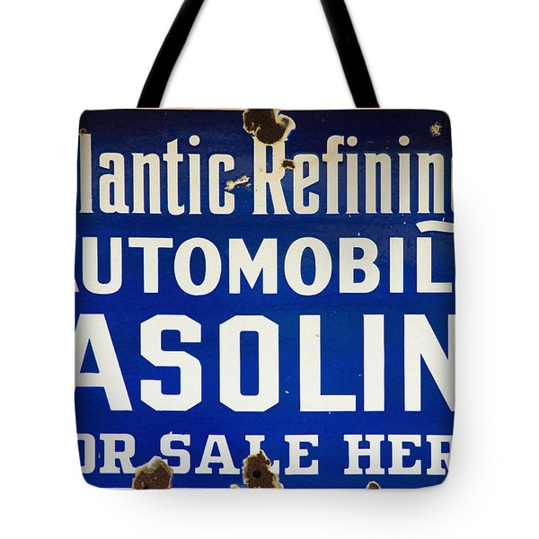 Atlantic Refining Co Sign Tote Bag by Bill Cannon