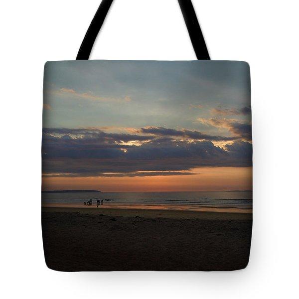 Atlantic Sunrise Tote Bag by Nancy Griswold