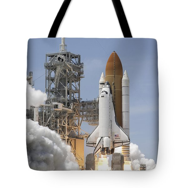 Atlantis Twin Solid Rocket Boosters Tote Bag by Stocktrek Images