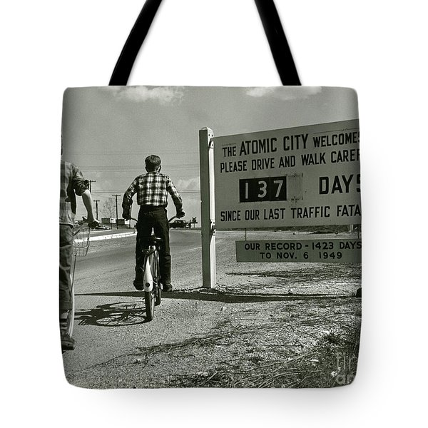 Atomic City Tennessee In The Fifties Tote Bag by Tom Hollyman and Photo Researchers