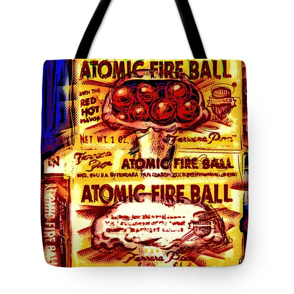 Atomic Fire Ball Tote Bag