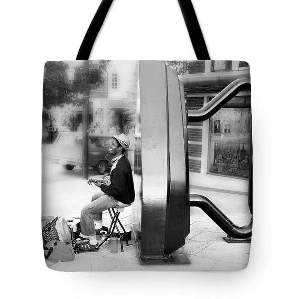 Atown Street Musician Tote Bag