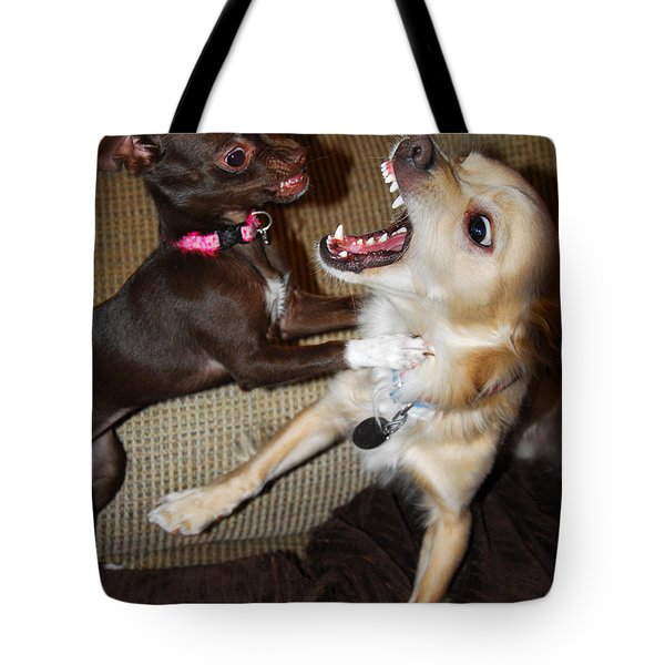 Attack Dogs Tote Bag