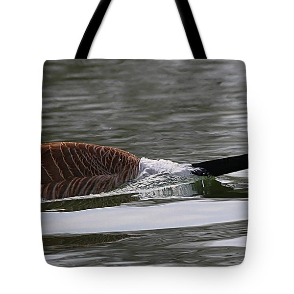 Tote Bag featuring the photograph Attack Of The Canadian Geese by Elizabeth Winter
